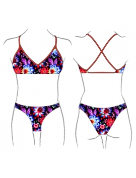 Black Flower bikini