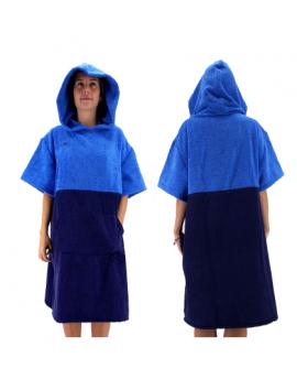 Poncho  Turbo turchese-blu